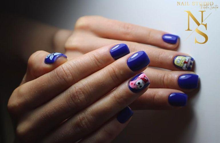manicure ze spongebobem