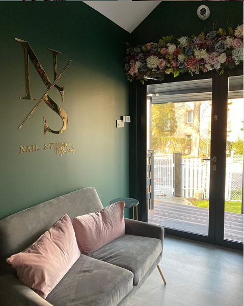 studio NS nail studio Natalia Smoter, wnętrze